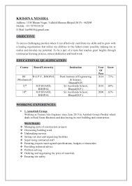 How Long Should A Resume Be Awesome Resumekrishna Mishra Site