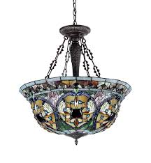 tiffany style pendant light fixture. Chloe Lighting CH33391VG22-UH3 Tiffany-Style Victorian 3 Light Inverted Ceiling Pendant 22-Inch Shade, Multi-Colored - Amazon.com Tiffany Style Fixture