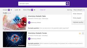 choose how to sort kahoot search results