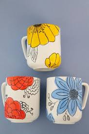 Dress Up Basic Mugs With Hand-Painted Florals