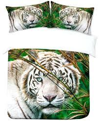 white tiger bedding white tiger print duvet cover white tiger bedding sets for