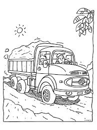 Kleurplaat Vrachtwagen Vol Zand Kleurplatennl