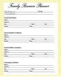 Family Reunion Registration Form Template Word Unique Checklist