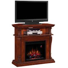 classic flame corinth electric fireplace insert home theater mantel in vintage cherry
