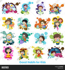Good Habits Chart For School Good Habits Chart Vector Photo Free Trial Bigstock