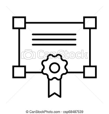 Certificate Outline Certificate Line Icon Vector Illustration Isolated On White Outline Style Design Designed For Web And App Eps 10