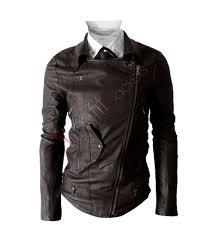 multi pocket slim fit biker brown leather jacket 167 0