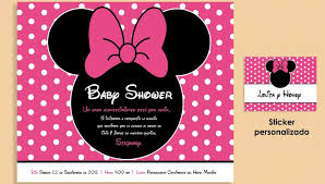 ideas ba shower invitations diy free template baby shower minnie mouse invitations x pixels