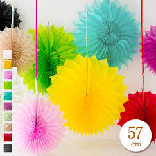 Paper Flower Mobiles Fan Paper 57 Cm Paper Fun Christmas Paper Mobiles Decogoods Childrens Room Ceiling Decoration Welcome And Farewell Flower Paper Paper Flower
