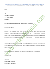 Application Letter For Police Station Free Police Officer