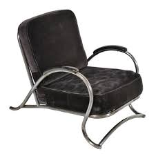 chrome furniture. 1930s super streamlined art deco tubular chrome upholstered wolfgang hoffmann lounge chair furniture a