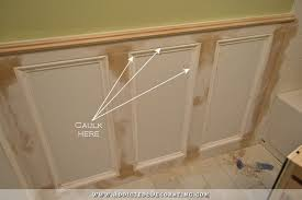 bathroom walls recessed panel wainscoting with tile accent 12