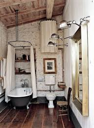 vintage bathroom lighting ideas. vintage rustic bathroom boho claw foot bathtub exposed brick lighting ideas