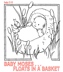 Baby Moses Coloring Page Alancastroorg