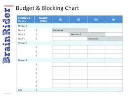 Media Blocking Chart Template Excel Event Planning Gantt