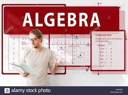Algebra Mathematics Calculation Chart Concept Stock Photo