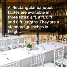 what s the average size of a banquet table