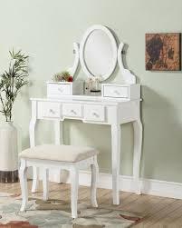 beachcrest home zeke wood makeup vanity set with mirror reviews wayfair