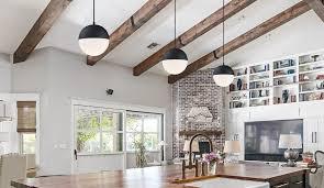 hang pendant lights over kitchen island