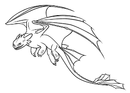Spotlight Dragon Colouring Pictures Toothless 15783 Unknown