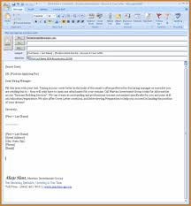 Cover Letter Email Format Notary Letter Emailing Resume And Cover