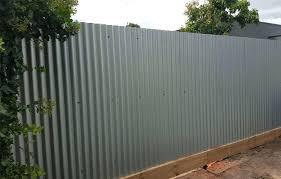 grey corrugated metal fence wood framed plans