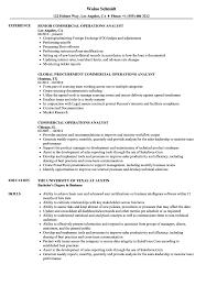 Commercial Operations Analyst Resume Samples Velvet Jobs