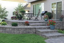 Small Picture Stacked Concrete Block Retaining Wall Design For Portland