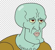 squidward s patrick star bottom internet meme ugly face transpa background png clipart