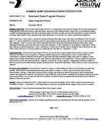 director job description 2018 assitant camp program director job description ymca camp