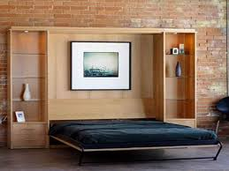 Great And Unique Look Of A Cool Murphy Bed Designs With Black Bed