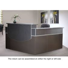 click to enlarge bow front reception counter office reception desk