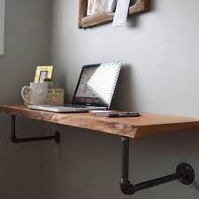 Floating Shelf Computer Desk Best 25 Floating Desk Ideas On Pinterest  Bureaus Wall Mounted