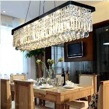 decoration mesmerizing rectangle dining room chandeliers rectangular chandelier contemporary with crystal light fixture island lighting
