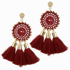 Dream Catcher Earings Custom Red Tassel Dream Catcher Earrings ILoveJMC