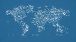 Digital World Map Backgrounds