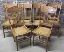 antique oak kitchen chairs inspirational set antique c victorian press back oak dining chairs caned