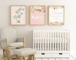 >baby girl nursery etsy baby girl boho nursery blush baby girl nursery personalized nursery art girl baby blush nursery wall art floral nursery art set