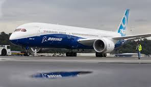 a boeing 787 9 dreamliner at boeing field in seattle washington
