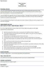 Cv Format For Airlines Job Flight Attendant Cv Example Icover Org Uk