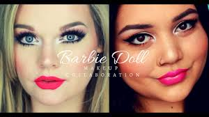 barbie doll makeup tutorial collab