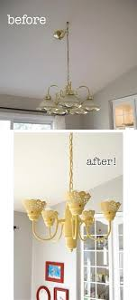pleasant ideas light fixture makeover ideas painting chandeliers painted chandelier jpg