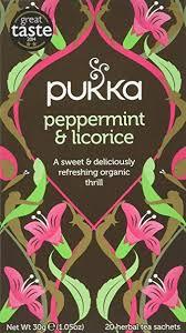 Pukka <b>Peppermint</b> & Licorice, <b>Organic Herbal</b> Tea (4 Pack, 80 Tea ...