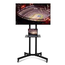 mobile tv stand with mount. Yaheetech Mobile TV Cart Mount Stand For 32 To 65 Inch LED LCD Plasma Flat Screen With Tv