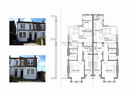 semi detached house plan house plans with separate kitchen with wonderful single y semi