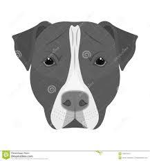Dog Breed Staffordmuzzle Of Stafford Single Icon In Monochrome