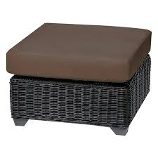 wicker ottoman cushion classics wicker outdoor ottoman set of 2 cushion covers cocoa c050b o cocoa wicker ottoman cushion outdoor