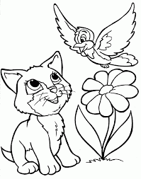 Small Picture Coloring Pages Coloring Pages Of Cats Cat Color Inspiration