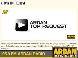 Ardan Chart Chart Ardan Fm Radio Bandung Top Request