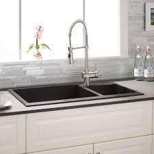 34 Arvel 7030 Offset Double Bowl Drop In Granite Composite Sink